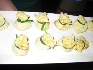 Crab and prawn parcels
