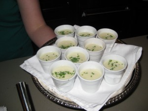 Creamed celeriac soup
