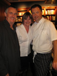 Kevin Snook - Author (left), Barbara Jo (center), Chef David Hawksworth (right)