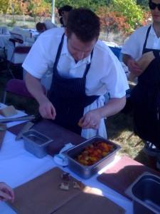 Chef at Cibo preparing Crespelle with Ricotta