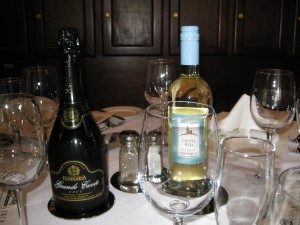 Hungaria Grande Cuvee (left) & Chapel Hill Pinot Grigio (right)