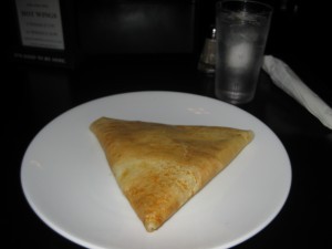 Tuna and Chese Crepe