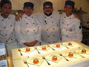 Pacific Culinary Arts Team of Chefs and their Trout creation