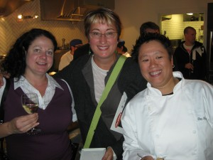Cassandra Anderton (left), Nanette (middle), Chef Tina Fineza (right)