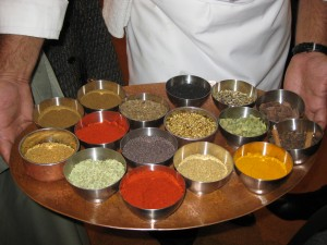 Colourful Spices used in Vikram's Chicken Curry