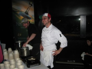 Chef Matt (left) & his brother Andrew Christie (right) - Go Fish - cooking