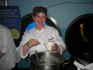 Chef from the Vancouver Aquarium with their chowder