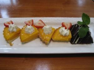 Lemon Tart & Chocolate Pyramid