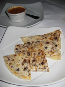 Naan filled with nuts and fruit