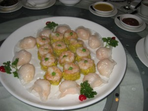 Shrimp Dumplings (outside ring)