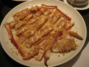 Alaskan King Crab with Roasted Garlic