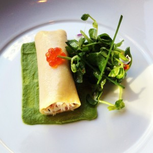 Chilled Dungeness Crab Cannelloni