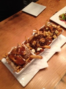 Poutine Trio featuring the Duck Confit Poutine