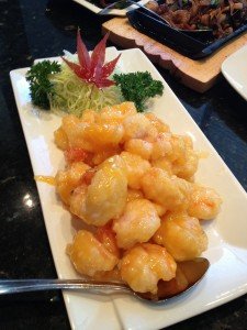 Golden Honey Prawns
