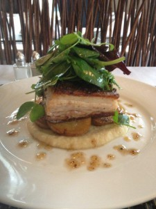 Campbell's Honey glazed Gelderman Farms pork belly
