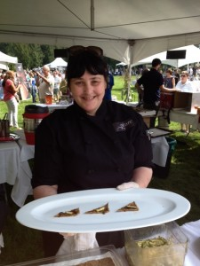 Chef Karen McAthy of Graze Restaurant with her Shiso, Tomato and Kale
