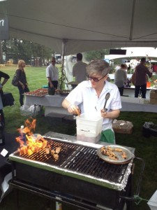 Chef Allison of Chicha Restaurant with her Organic Ocean Bbq Salmon Sliders