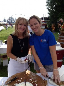 Sandy Krause (left) of Krause Berry Farm with their Corn & Potato Rosti