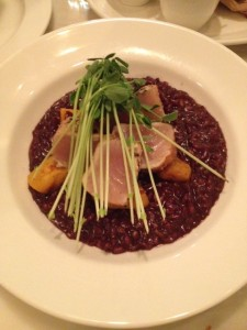 Smoked Tuna and Red Wine Risotto