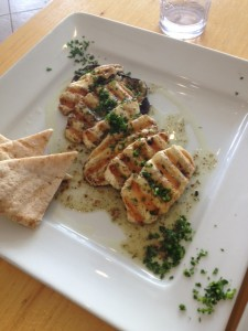 Halloumi with grilled eggplant