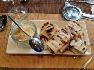 House made Ricotta and honey and grilled flatbread