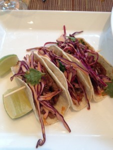 Crispy Duck Tacos with Chipotle Coleslaw