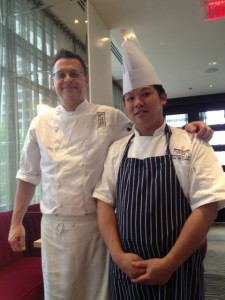 Cook Hall's Executive Chef David Gross & Market's Chef de Cuisine is Montgomery Lau.