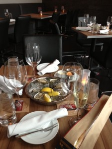 French bread and a selection of Oysters