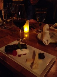 Chocolate Hazelnut Torte and a selection of cheeses