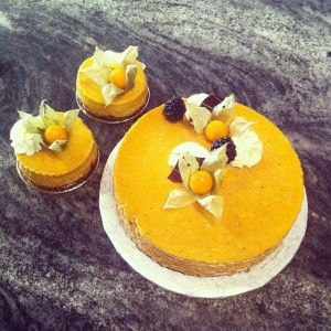 Pumpkin cheesecake on gluten free crust.