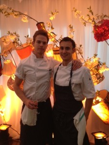 Chef Garett Blundell (left)