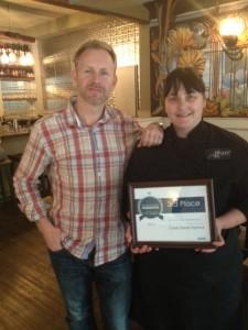 Chef Karen McAthy (right)