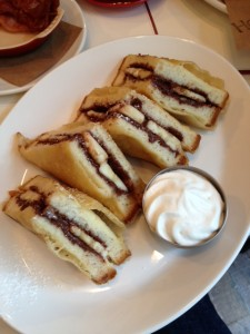 Fried Nutella and Banana Monte Cristo Sandwich
