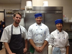 Chef Sean McGuire of Maenam (left) and his assistants from Pica
