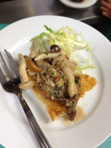 Mushrooms on Brioche sherry cream sauce
