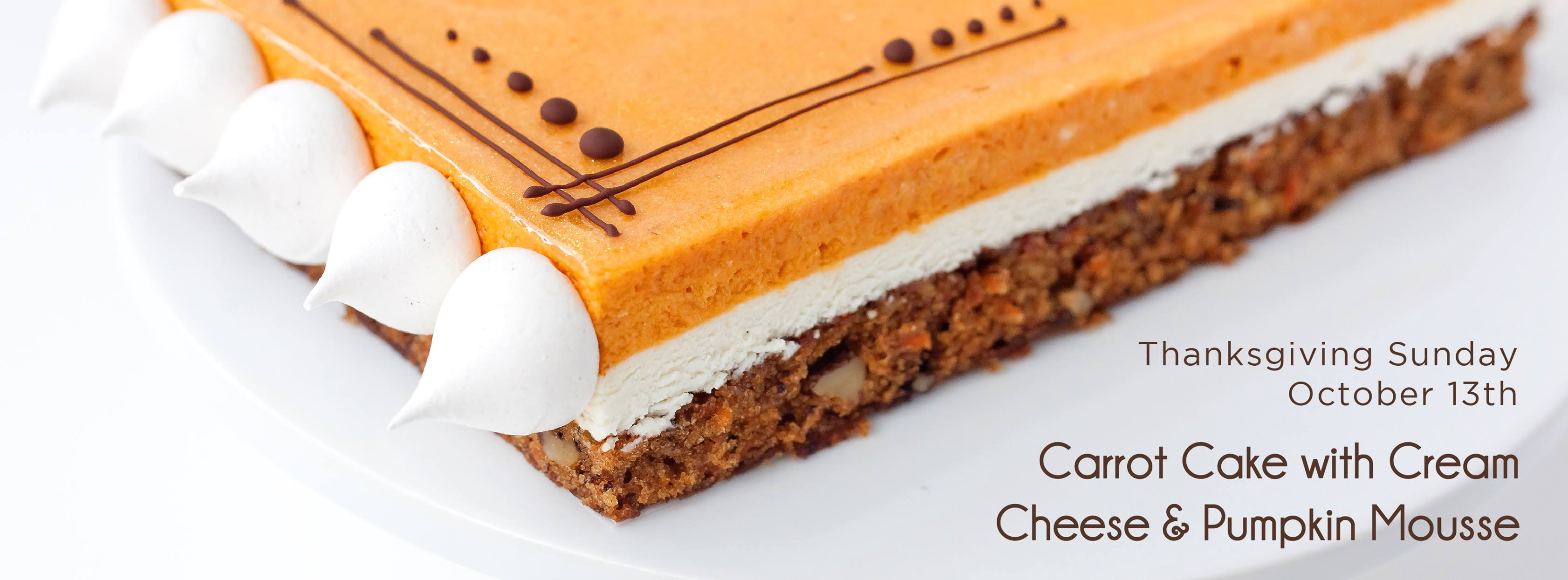 Carrot Cake with Cream Cheese & Pumpkin Mousse
