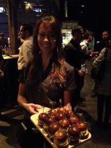 Mini Crab Cakes on house-made Pretzel Buns