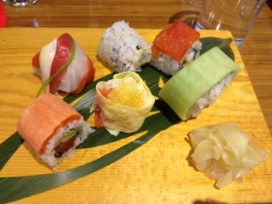 Selection of rolls: Golden, Great Pacific, Great Canadian, Northern Light, Rainbow and Tojo.