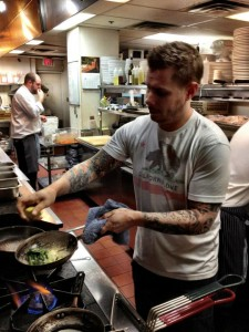 Chef Chris Bisaro at Brix Restaurant cooking up a storm.