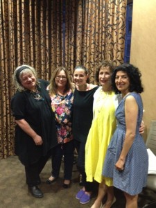 5 Iconic Women Chefs at Food Talks Vol 8 Speakers (from left to right) Karen Barnaby, Angie Quaale, Merri Schwartz, Susan Mendelson and Meeru Dhalwala