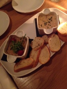 Duck Rillette and Smoked Salmon Pate