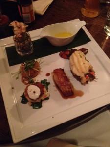 Tasting platter of Seafood