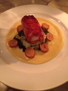 Chorizo Wrapped Seabream