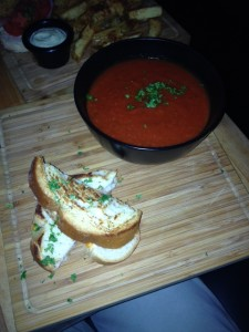 Tomato Soup with Grilled Cheese