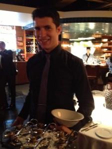 Rafik Doukkali - server at Blue Water Cafe & Raw Bar.