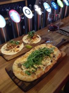 Steelhead Salmon Tacos and Local Wild Mushroom Pizza