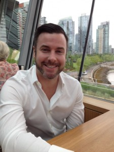Food Network's Top Chef Canada winner Matt Stowe at Cactus Club Cafe Coal Harbour having lunch with Richard Wolak.