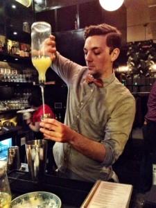Bartender Sean Hewlett