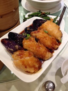 Pan Fried Eggplant with shrimp paste