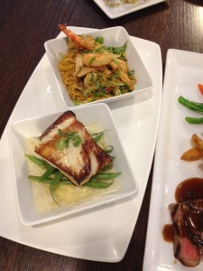 Miso-marinated Alaskan Black Cod & Chicken Lo Mein